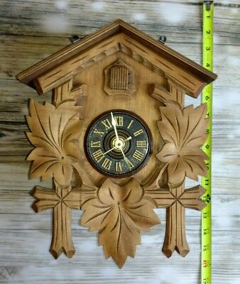 Hubert Herr Black Forest Cuckoo Clock Body For Parts or Repair Only