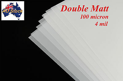 Mylar Stencil Film:  Double Mat Drafting Film:  5 sheets A4