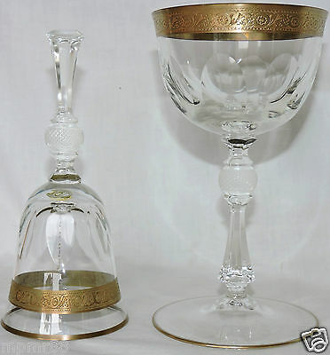 1 Cup On Stand + One Bell Service Crystal Theresienthal Minthon Borde