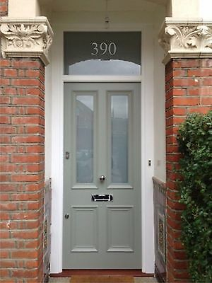 Gold White Silver Frost Etch Victorian Door Numbers, Glass, Fanlight Numbers