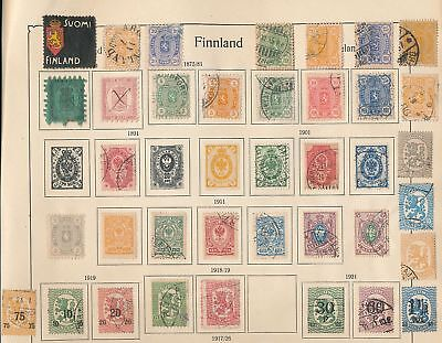 FINLAND Estonia OLD Used MM Lot (Appx 120 Items) AU9605