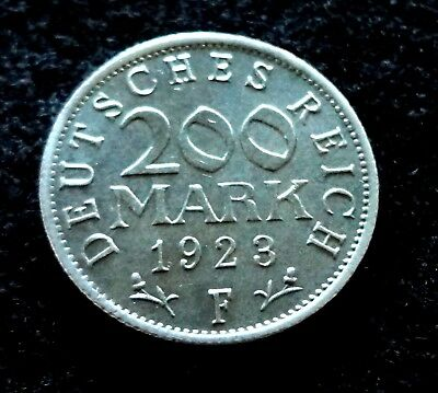 Germany Weimar Republic 1923-F 200 Mark Coin  UNC. German Coins