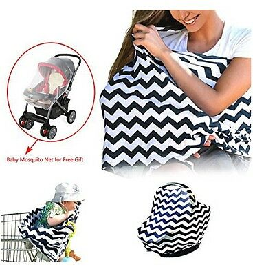 Universal Stretchy Infant Nursing Cover, Baby Carseat Canopy, Shopping Cart