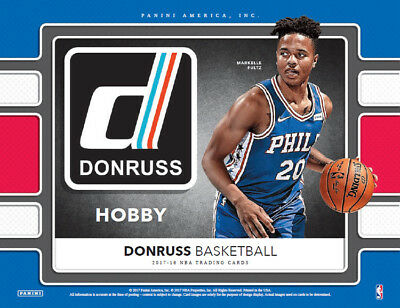 2017-18 Donruss Basketball Factory Sealed Hobby Box Lot (3)  Pre-Sell