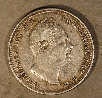 1834 Great Britain Shilling Nice Details            ** FREE U.S. SHIPPING **