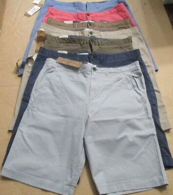 NEW JACHS Men's Sateen Flat Front Shorts chino VARIETY.
