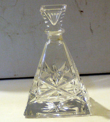 Galway Irish Lead Crystal ~ Pyramid Perfume Bottle ~, Rare Galway Crystal.
