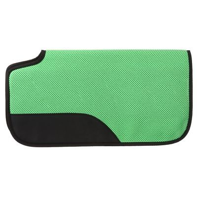 30X30 Tough 1 Air Flow Shock Absorber Pvc Rubber Saddle Pad Neon Green