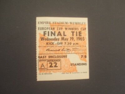 TICKET  WEST HAM UNITED v TSV MUNICH  MAY 1965  CUP WINNERS CUP FINAL @ WEMBLEY
