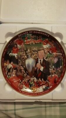 Manchester Utd decade of dominance plate and authenticity certificate collection