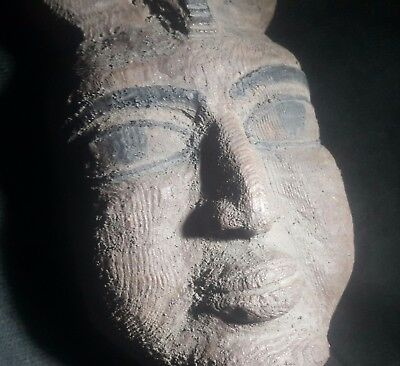 Rare Ancient Egyptian WOOD FACE (1500-1000 BC)