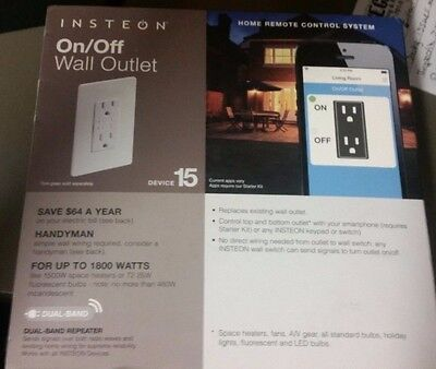 NEW Insteon Dual On/off Outlet 2663-492
