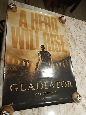 Gladiator Original Advance D/S 1Sh 27 X 40 Movie Poster Russell Crowe 2000