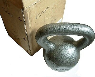 CAP Kettlebell Grey 30 lbs Hand Weight Lifting Fitness Body Build Dumbbell Metal