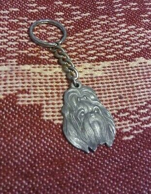 i love my Shih Tzu key chain, pewter 1982