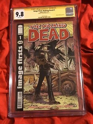 Cgc Ss 9.8~Image Firsts The Walking Dead #1~Signed By Tony Moore~Kirkman Story