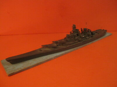 Ww2 Comet Iowa Battleship Large Recognition Model Ship Id Models 1/500 Scale
