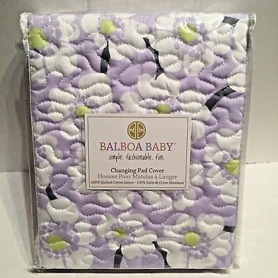 Balboa Baby Changing Table Pad Cover Lavender Floral Baby Bedding Set Unisex