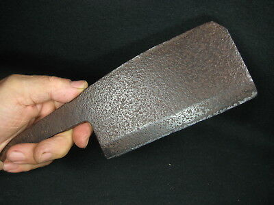 Japanese Vintage Tool Hand Forged Laminated Iron Cleaver Blade Knife