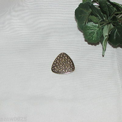 Vintage Scarf Clip Gold Tone Hobnail Triangle Not Signed Fashion Accessories