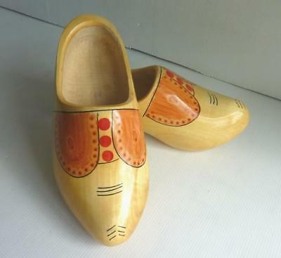 """HOLLAND"" Handmade Traditional Wooden Dutch Clogs/Shoes - Size: Euro 37 - UK 4"
