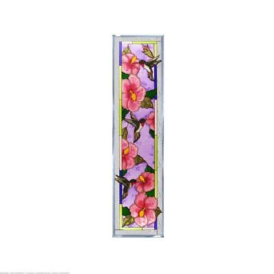 Hibiscus Painted Glass Panel R-149
