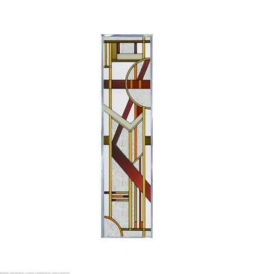 Deco Craftsman Painted Glass Panel R-188