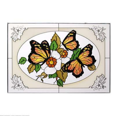 Butterflies Painted Glass Panel V-227