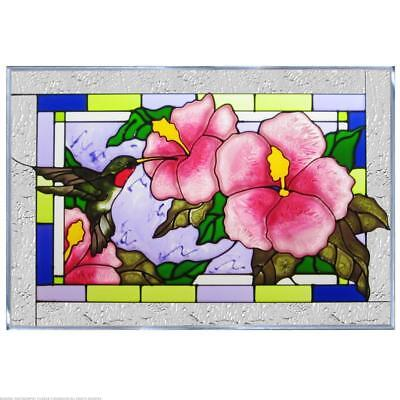 Hibiscus Painted Glass Panel V-257