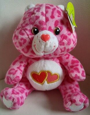 """Care Bear Love-a-lot Plush Camo w/ Tags. Special Edition Jungle Party. Approx 6"""""""