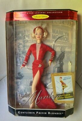 Barbie as Marilyn Gentlemen Prefer Blondes Marilyn Manroe in a Red Dress