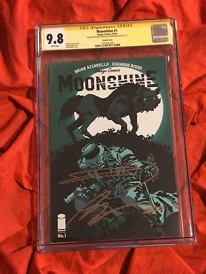 Cgc Ss 9.8~Moonshine #1~Variant Edition~Signed By Frank Miller+Brian Azzarello~