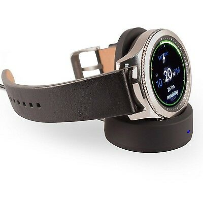 SAMSUNG GEAR S3 S2 Charger Qi Wireless Charging Dock Cradle Re