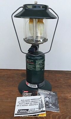 Coleman Propane Lantern Two Mantle Camping Lamp uses Cylinders Easy & Convenient