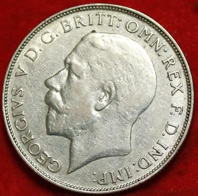 1923 Great Britain Florin Silver Foreign Coin Free S/H