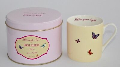 Miranda Kerr for Royal Albert SHINE YOUR LIGHT Mug In A Tin - Butterflies