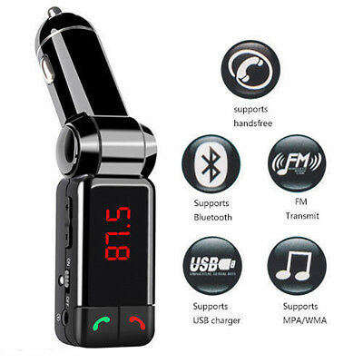 Bluetooth Car Kit FM Transmitter Handsfree LED MP3 Music Player USB Charger Aux