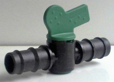 IN-LINE BARBED CONTROL VALVE / STOP COCK - 20mm (OD) x 17mm (ID)