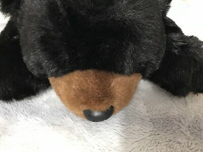 Ty Black Bear Large Paws 28in TY Classic laying floor bear detailed paws MWMT