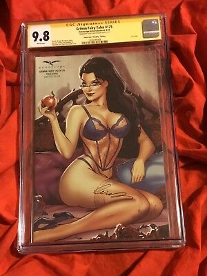 Cgc Ss 9.8~Grimm Fairy Tales #125~Naughty Limited Variant~Signed By Chatzoudis