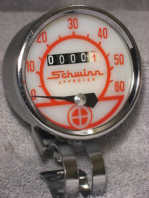 "Vintage Schwinn 08 430 Huret Bicycle Bike Speedometer 2½"" Round Speedo Head"