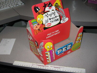 PEZ JAPAN display box 1978 Warner Bugs Bunny Speedy Gonzales Tweety Daffy Duck