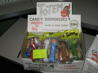 TOTEM 1970s candy dispenser container FULL STORE DISPLAY (24 MIP) PEZ