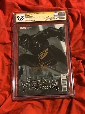 W@w~Cgc Ss 9.8~Venom #3~Color Wrap-Around Variant~Signed By Dell'Otto+Stan Lee