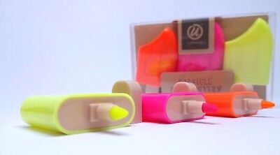 U Brands 3 colors Popsicle shaped Highlighters Pink Yellow Orange