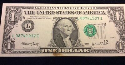 Error Note: Third Print Mid-Level Overshift on a 2003 FRN $1