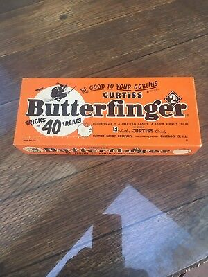 Halloween Butterfingers 2 Cent Tricks or 40 Treats Candy Box Vintage