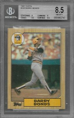 (BGS 8.5 Graded) BARRY BONDS 1987 TOPPS (Rookie RC) #320 PIRATES Giants NR-Mint+