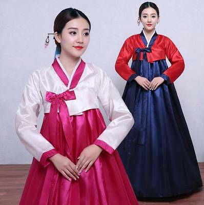 Korean Womens Traditional Gown Costumes Hanbok National Ethnic Dance Dress H700