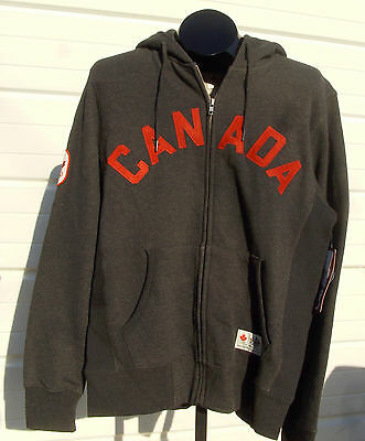 2012 Olympic Team Canada HBC Mens Small Gray CANADA Hoodie, New with Tags